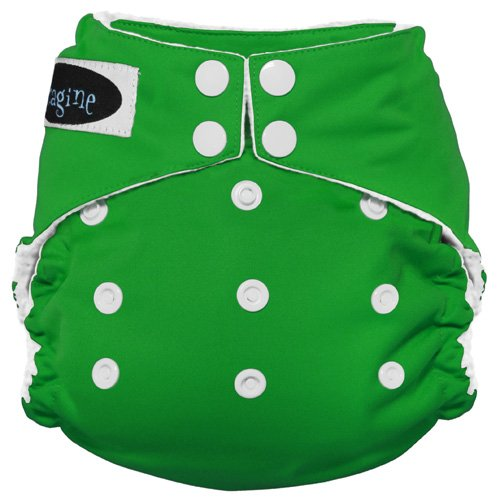 Imagine Baby Products Stay Dry All In One Snap Diaper Emerald