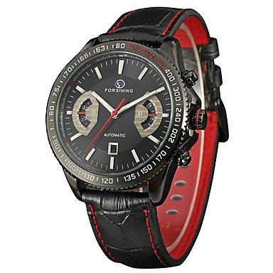 HWCOO Mini Focus Relojes de Pulsera FORSINING Hombre Reloj de Pulsera Reloj de Moda Cuerda Automática