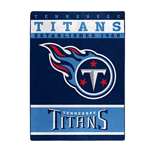 The Northwest Company Officially Licensed NFL Tennessee Titans 12th Man Plush Raschel Throw Blanket, 60