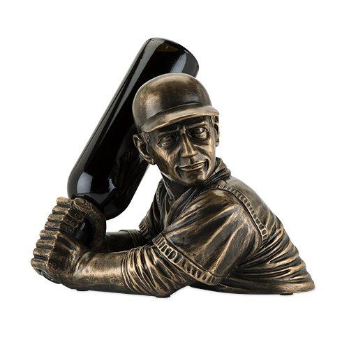 Foster and Rye Polyresin Baseball Bottle Holder, Gold