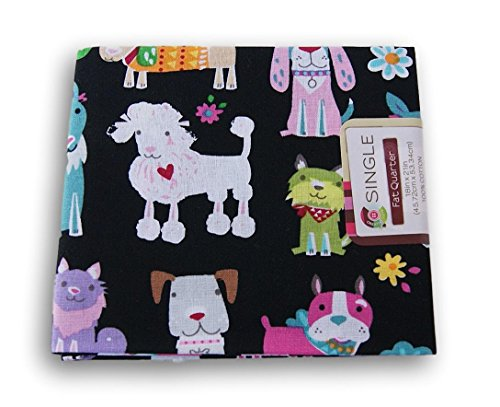 Pup Bandana (Dog Fat Quarters - Loveable Pups Poodle Pound Puppies (Fabric 18 x 21 Inches))