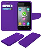 Acm Mobile Leather Flip Flap Wallet Case for Micromax Bolt D303 Mobile Cover Purple