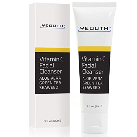 Limpiador facial de vitamina C con aloe vera, té verde y hierba de mar de