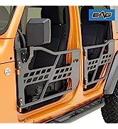 EAG Safari Tubular Door with Side View Mirror Fit for 2018-2021 Wrangler JL 4 Door Only