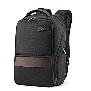 Samsonite Kombi 14-inch Small Backpack, Black/Brown, International Carry-On (Model:92313-1051) (B0765JCL3V) | Amazon Products