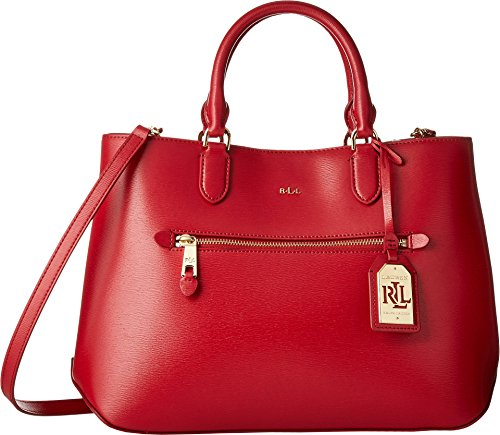 LAUREN Ralph Lauren Women's Newbury Sabine Medium Satchel Red One Size