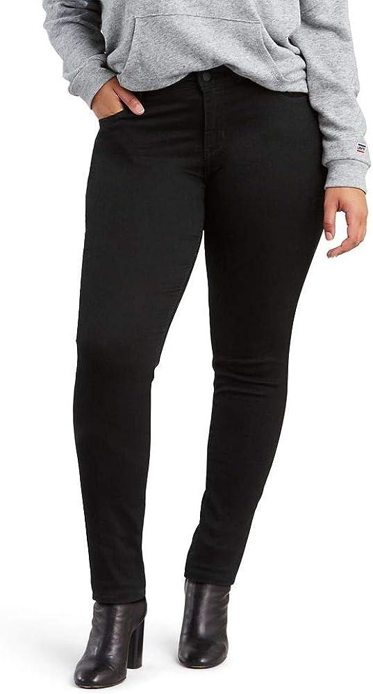 Levi's Damen Skinny Jeans Plus Size 711 Esche Geschwärzt
