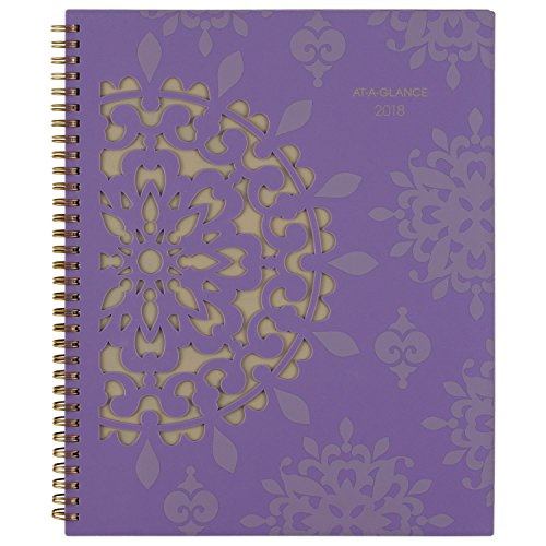 AT A GLANCE Vienna Weekly/Monthly Appointment Book, 8 1/2 x 11, Purple, 2018 (122905) for sale