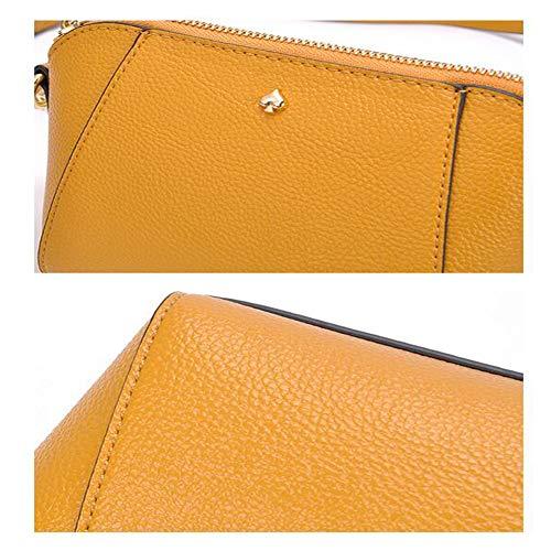 5 Main Couleurs Jhmy 8cm Pu À Longue 13 Disponibles Chaîne Bandoulière Litchi Vintage silver Yellow Shell Sac 20 gcOW61cq4