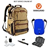 Vanguard Havana 48 DSLR Camera Backpack + Halo 5500 Universal Charger + Cleaning Kit 4pc + Lens Pen Cleaning Brush + Memory Card Wallet