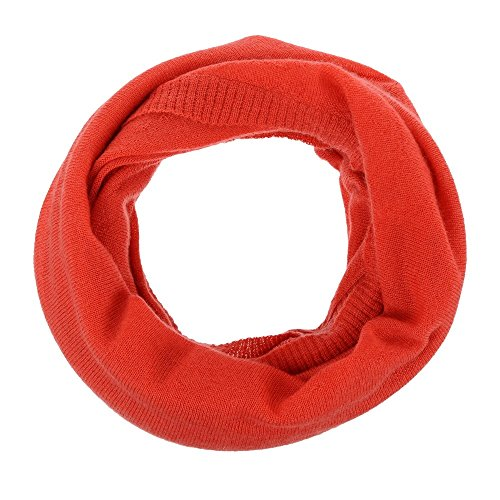 Womens 100% Cashmere Snood Classics - Red by LES POULETTES