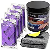 ROKKES Clay Bar Kit Car Detailing Magic Clay Bars 4 Block x100g Wild Auto Claybars with Washing and Adsorption, for Cars Printwork, Automotive Glass, 600GSM Professional Towel Included