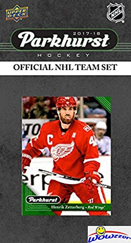 Upper Deck Detroit Red Wings - Detroit Red Wings 2017/18 Upper Deck Parkhurst NHL Hockey EXCLUSIVE Limited Edition Factory Sealed 10 Card Team Set including Henrik Zetterberg, Evgeny Svechnikow Rookie & all the Top Stars! WOWZZER!
