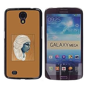 "For Samsung Galaxy Mega 6.3 Case , Diosa egipcia Mujer Café Arte"" - Diseño Patrón Teléfono Caso Cubierta Case Bumper Duro Protección Case Cover Funda"