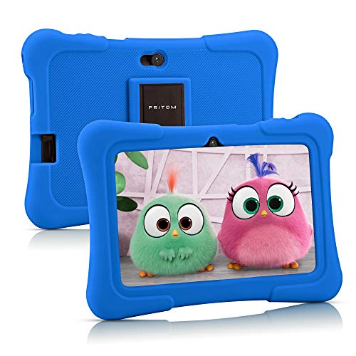Pritom 7 inch tablet voor kinderen, Quad Core, Android 10,16 GB ROM, WiFi, handleiding, games, kindersoftware vooraf…