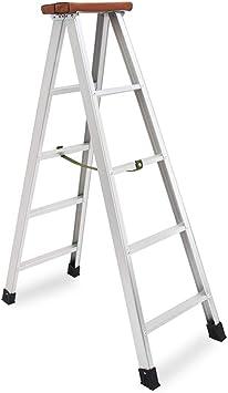 Casa escalera de metal de cinco pasos, escalera de Ingeniería de la Construcción al aire libre decoración de escalera - madera de diseño superior del pedal ensanchamiento Engrosado: Amazon.es: Bricolaje y herramientas