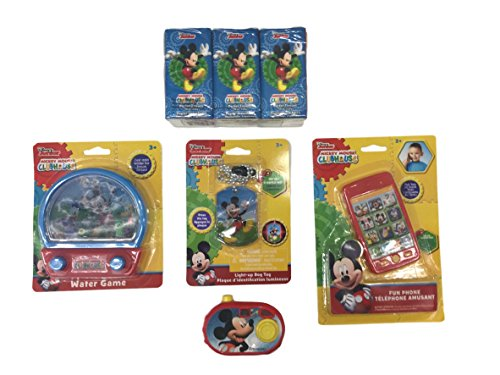 PROMOTION!!! Mickey Mouse Toys Super Combo Set = Pocket Tissue, Water Pintball Card, Smart phone Built Up, Camera Bulk, Light Up Dog Tag on