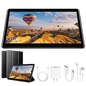 DUODUOGO G10 Tablet 10.1 inch, Dual SIM 4G/5G WiFi, IPS/HD 32GB ROM/3GB RAM Quad-Core 8500mAh Tablet PC, Dual 8MP Camera Android 8.1, Mediapad/Bluetooth/GPS/OTG Unlock Tablet with a Cell Phone