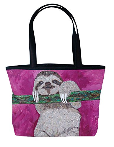 - Sloth Shoulder Bag, Vegan Tote Bag - Animal Prints - From My Original Painting, Leisurely Life