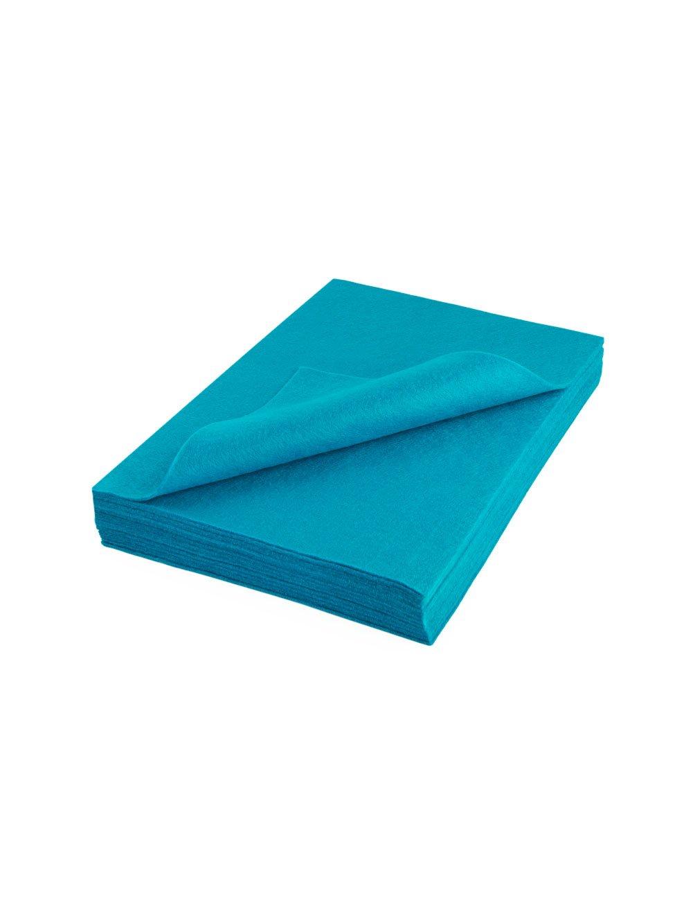 "High Quality Acrylic Felt Sheet 9"" X 12"": 25 PCS, Turquoise The Felt Store"