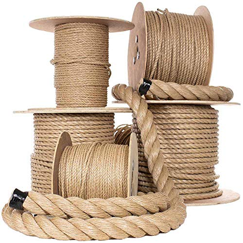 Paracord Planet Tug of War Rope | UnManila Polypropylene Rope Cordage | (1 1/2 in x 25 Ft) All Purpose ProManila Cord for Décor, Crafts, Sporting, Landscaping Pre-Cut Lengths in Multiple Diameters ()