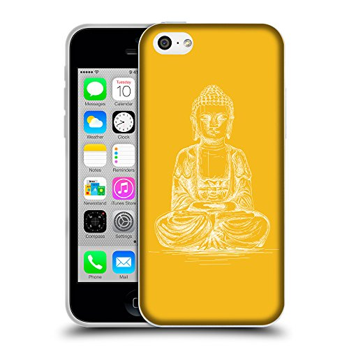GoGoMobile Coque de Protection TPU Silicone Case pour // Q10010602 Bouddha assis 12 ambre // Apple iPhone 5C