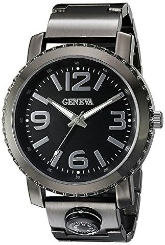 Geneva Men's FMDJM509C Analog Display Japanese Quartz Brown Watch (Brown Leather Geneva Watch)