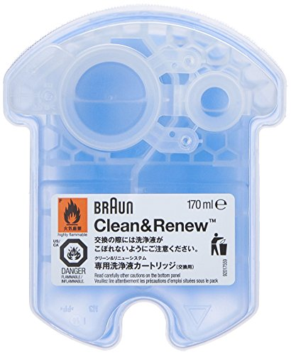 Braun Clean and Renew 4 Pack, Cartridge, Refill, Replacement Cleaner, Cleaning (Shaver Head Cleaner)