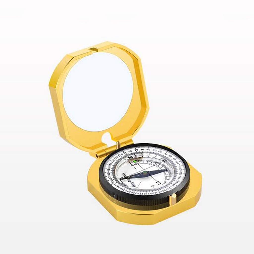 YUNFEILIU Kompass-Metallmaterial-Felduntersuchung Im Freien Geologischer Kompaßinstrumentkompaß des Wasserdichten Kompasses Im Freien, der Kampierend Wandert