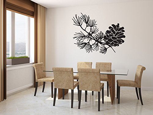 Pinecone Vinyl Wall Decal Sticker Graphic - Evergreen Pinecone Wall