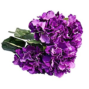 Celine lin 5 Big Heads Artificial Silk Hydrangea Bouquet Fake Flowers Bunch Home Hotel Wedding Party Garden Floral D¨¦cor 3