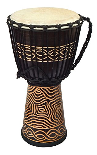 Djembe Standard linecarv, 20'' tall, 10'' head, NK047 by Terre