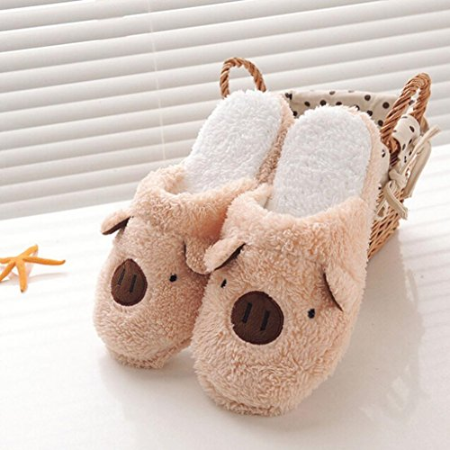 Café Lovely Floor Home Pig Chaussons Stripe Pantoufles Soft Fulltime® nx8O7fZw