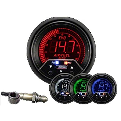 Prosport 60mm Premium EVO Wideband Digital Air Fuel Ratio Kit 238EVOAFRPK4.9-WO: Automotive
