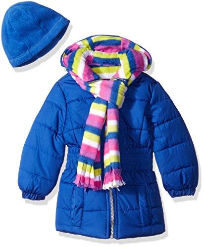 Pink Platinum Little Girls' Toddler Puffer Jacket with St...