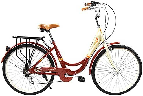 Zycle Fix ZF-BURG-26 City Bikes, Burgundy, 26-Inch Wheel/Frame