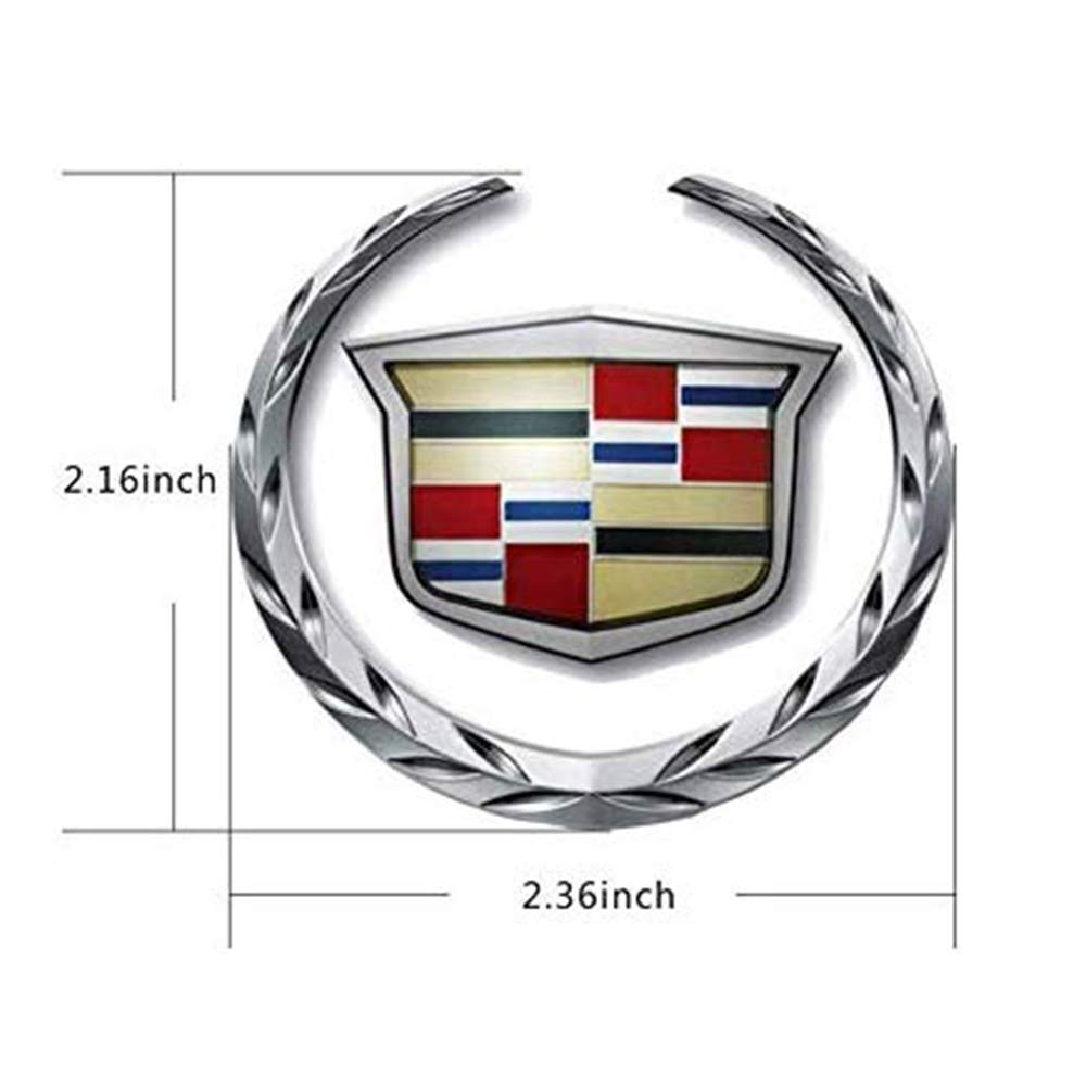 de la Puerta Posterior del Coche Emblema de la Capilla etc L/&U 2pcs 3D Etiquetado de Metal para Cadillac SRX ATS XTS CTS XT5 XLR