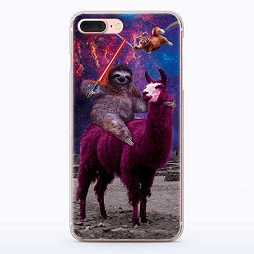 Funny Star Wars iPhone XR Case Animal Jedi Rainbow Cat Llama Squad Sith Lightsaber Fight Clear Durable Plastic Case for iPhone XR Sloth Vader MA1304 ()