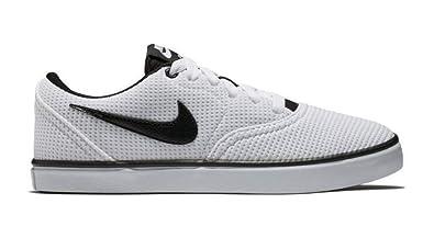 Nike WMNS Sb Check Solar CNVS Womens 921463-100 Size 6 White Black- 70c2c53368439