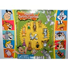 Hanna Barbera / Loony Tunes Classic Cartoon Charater Mini Figure Vending Toy Set of 10 with Tom and Jerry, Scooby-Doo, Fred Flintstone, Yogi Bear, Bugs Bunny Etc with Bonus Looney Tunes Cookie Cutter!