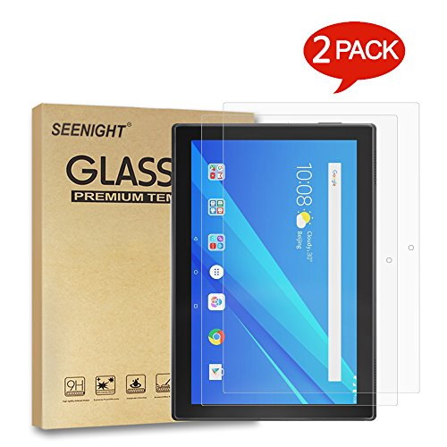 [2 Pack] Lenovo Tab4 Tab 4 10 Screen Protector Tempered Glass 9H Hardness Scratch Resistant for Lenovo Tab 4 TB-X304 F/L/X 2017 Release 10.1'' Tablet ZA2J0007US (NOT FIT tab 4 10 plus ZA2T0000US) by SEENIGHT