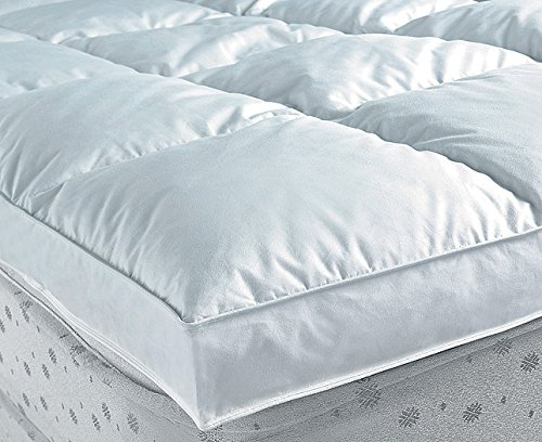 Nordiko - Topper plumon 2000 gr/m2 cama de 180, tamaño 180 / 200 cm, color Blanco: Amazon.es: Hogar