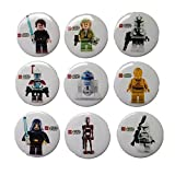 Lego Movie Buttons Badges 9 Pcs Set #5