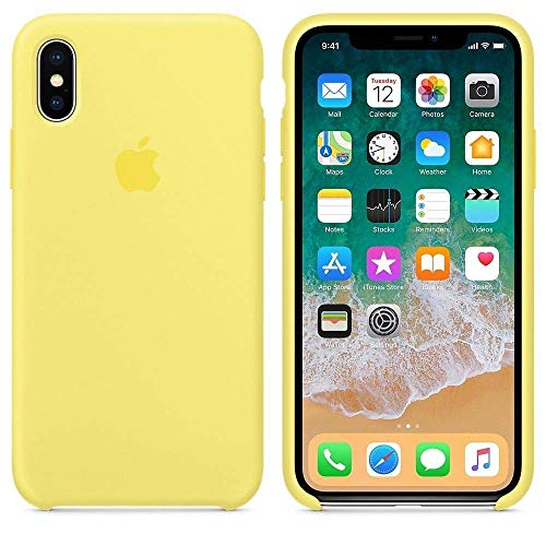 (iPhone iPhone XR Liquid Silicone Case Fits iPhone XR (6.1 inch), Gel Rubber Protection Shockproof Cover Case with Soft Microfiber Cloth Lining Cushion (Mellow Yellow))