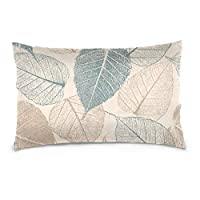Top Carpenter Leafs Velvet Oblong Lumbar Plush Throw Pillow Cover/Shams Cushion Case - 20x26in - Decorative Invisible Zipper Design for Couch Sofa Pillowcase Only