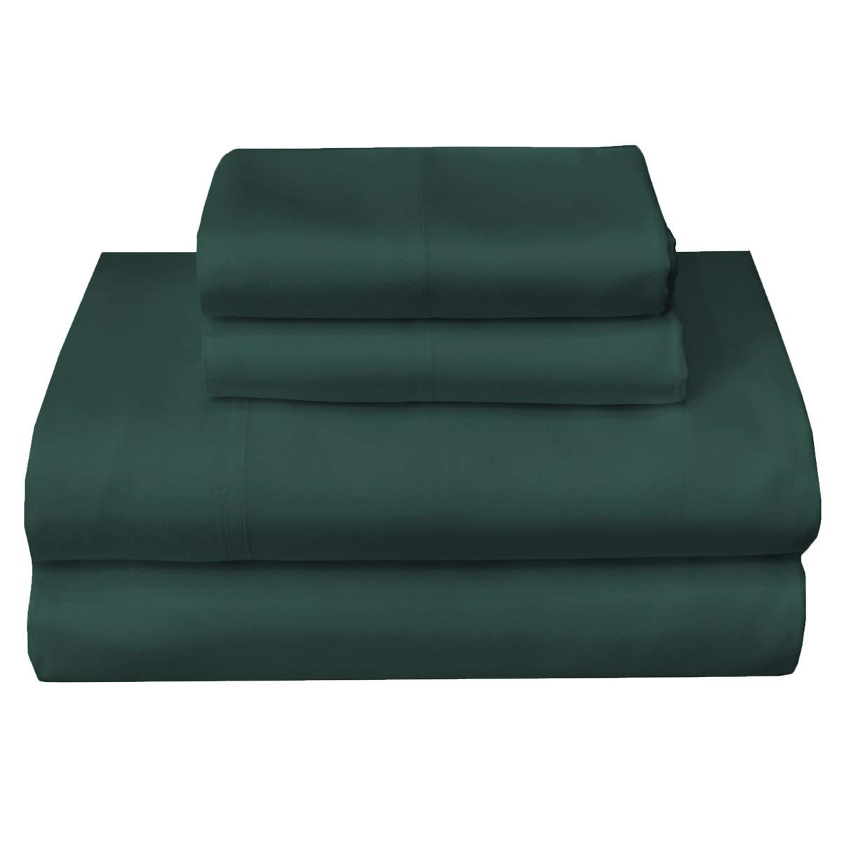 sheetsnthings Solid 300-Thread-Count 100-Percent Tencel Lyocell, 4PC King Bed Sheets