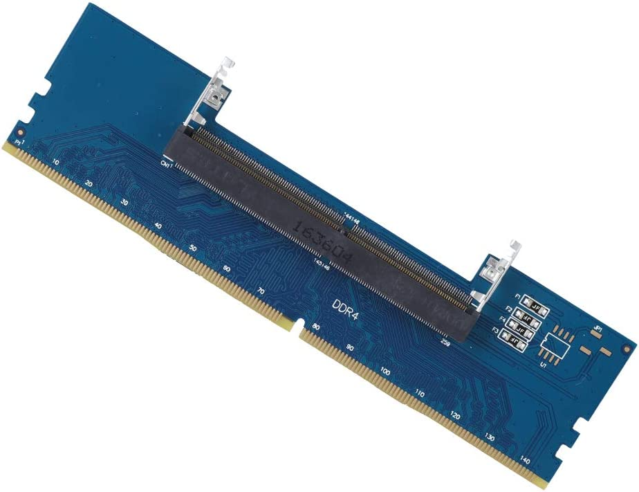 ASHATA Laptop DDR4 RAM to Desktop Adapter Card, Memory Tester SO DIMM to Desktop DIMM Memory RAM Connector Cards Converter Adapter