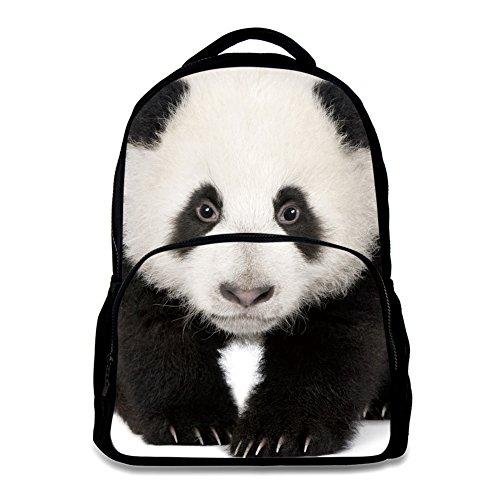 Animal School Bag Children's Age6-16 polyester 17 Inch Laptop Backpack (Panda)