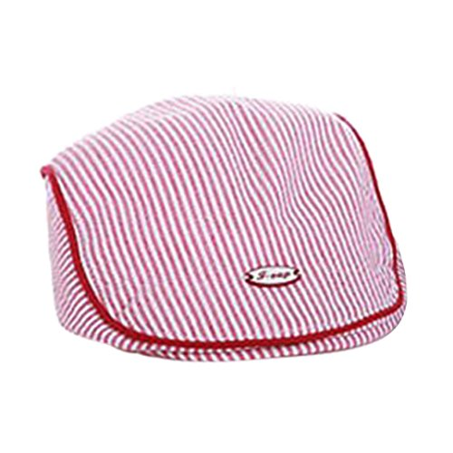 4af3bc79 FEITONG Cute Baby Kids Infant Boy Girl Stripe Beret Cap Peaked Baseball Hat  Casquette