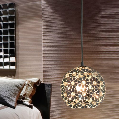 Lightinthebox Modern Minimalist 1 Light Pendant with Crystal Shade in Globular, Mini Style Ceiling Light Fixture for Dining Room, Bedroom